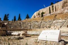 Θέατρο Dionysus Eleuthereus Στοκ Εικόνες