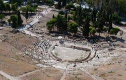 Θέατρο Diosysus, Hill Αθήνα ακρόπολη στοκ εικόνες