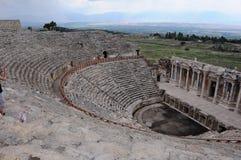 Θέατρο Hierapolis, Pamukkale, Denizli Στοκ Εικόνες