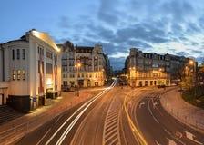 Θέατρο Rialto σε Katowice στη νύχτα Στοκ εικόνες με δικαίωμα ελεύθερης χρήσης