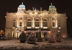 θέατρο slowacki της Κρακοβίας Στοκ Εικόνες