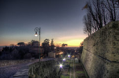 Θέα από τον τοίχο της ανώτερης πόλης Στοκ Εικόνες