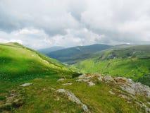Θέα βουνού από τη Ρουμανία Στοκ Εικόνες