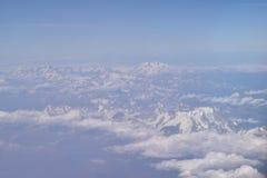 Θέα βουνού από τον ουρανό Στοκ εικόνες με δικαίωμα ελεύθερης χρήσης