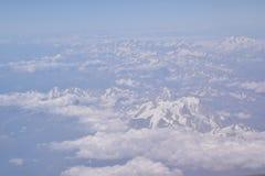 Θέα βουνού από τον ουρανό Στοκ φωτογραφίες με δικαίωμα ελεύθερης χρήσης