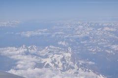Θέα βουνού από τον ουρανό Στοκ Φωτογραφίες