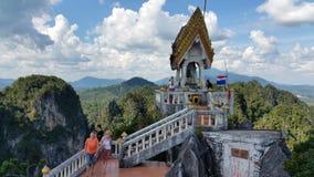 Θέα βουνού από το ναό σπηλιών τιγρών, Ταϊλάνδη Στοκ Φωτογραφία
