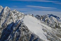 Θέα βουνού παγετώνων Mendenhall Στοκ Φωτογραφίες