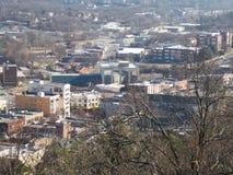 Θέα βουνού πόλεων στοκ εικόνες
