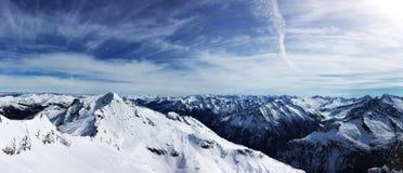 Θέα βουνού σε HinterTux Στοκ Εικόνες