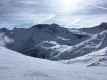 Θέα βουνού σε HinterTux Στοκ Εικόνα