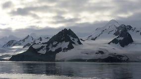 Θέα βουνού στην Ανταρκτική απόθεμα βίντεο