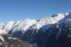 Θέα βουνού στην Ελβετία Στοκ Φωτογραφία