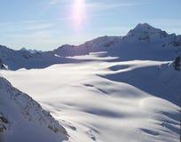 Θέα βουνού στην Ελβετία Στοκ Φωτογραφίες