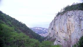 Θέα βουνού στην Κριμαία απόθεμα βίντεο