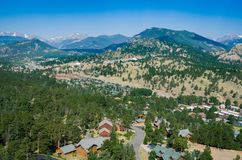 Θέα βουνού του πάρκου Estes - Κολοράντο στοκ φωτογραφία