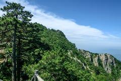 Θέα βουνού του φυσικού σημείου Tian TangZhai Στοκ φωτογραφίες με δικαίωμα ελεύθερης χρήσης