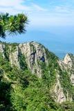Θέα βουνού του φυσικού σημείου Tian TangZhai Στοκ εικόνες με δικαίωμα ελεύθερης χρήσης