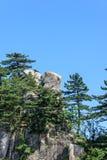 Θέα βουνού του φυσικού σημείου Tian TangZhai Στοκ Εικόνες