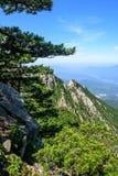 Θέα βουνού του φυσικού σημείου Tian TangZhai Στοκ Φωτογραφία