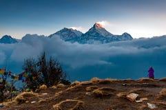 Θέα βουνού Annapurna από το Hill Poon Στοκ Φωτογραφίες