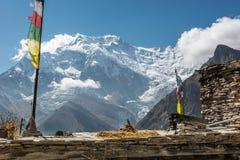 Θέα βουνού, Annapurnas στο Νεπάλ Στοκ φωτογραφία με δικαίωμα ελεύθερης χρήσης