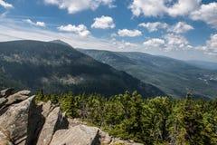 Θέα βουνού Karkonosze στοκ εικόνες