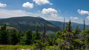 Θέα βουνού Karkonosze στοκ φωτογραφίες
