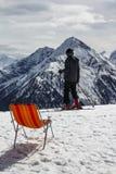 Θέα βουνού Penkenjoch στην Αυστρία, 2015 Στοκ φωτογραφία με δικαίωμα ελεύθερης χρήσης