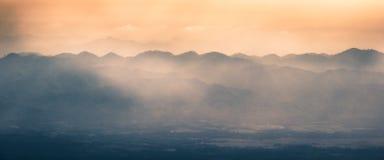 Θέα βουνού Phutubberk Στοκ Φωτογραφίες