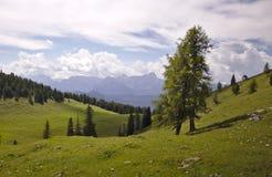 Θέα βουνών στην Αυστρία Στοκ φωτογραφία με δικαίωμα ελεύθερης χρήσης