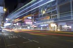 Θέα νύχτας οδών Στοκ Φωτογραφία