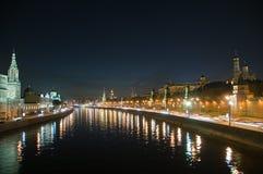 θέα νύχτας της Μόσχας Στοκ εικόνες με δικαίωμα ελεύθερης χρήσης