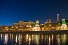 θέα νύχτας του Κρεμλίνου &M Στοκ Εικόνα