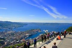 Θέα που βλέπει από το υποστήριγμα Floyen Στοκ Φωτογραφίες