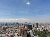 Θέα της πόλης Ciudad της Πόλης του Μεξικού από την κορυφή του λατινοαμερικάνικου πύργου - Μεξικό στοκ εικόνες