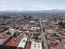 Θέα της πόλης Ciudad της Πόλης του Μεξικού από την κορυφή του λατινοαμερικάνικου πύργου - Μεξικό στοκ εικόνα