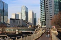 Θέα της υπεράσπισης, η οικονομική περιοχή του Παρισιού Γαλλία Στοκ φωτογραφίες με δικαίωμα ελεύθερης χρήσης