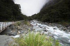 Θέες βουνού, ρεύματα και λίμνες της Νέας Ζηλανδίας δ Υ Στοκ Εικόνες