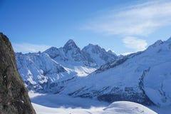 Θέες βουνού σε Chamonix περιοδεύοντας σκι στοκ εικόνα με δικαίωμα ελεύθερης χρήσης