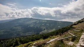 Θέες βουνού Karkonosze στοκ εικόνες
