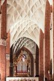 Θέες της Πολωνίας. Όμορφος υπόγειος θάλαμος στη γοτθική εκκλησία. Στοκ Εικόνα