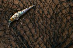 Θέλγητρο και δίχτυ ψαρέματος αλιείας Στοκ εικόνα με δικαίωμα ελεύθερης χρήσης