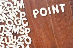 Θέμα λέξης που θίγεται με τις ξύλινες επιστολές φραγμών Στοκ φωτογραφία με δικαίωμα ελεύθερης χρήσης