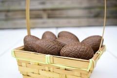Θέμα αυγών Πάσχας σοκολάτας Στοκ Εικόνες
