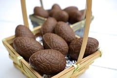 Θέμα αυγών Πάσχας σοκολάτας Στοκ εικόνες με δικαίωμα ελεύθερης χρήσης