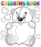 Θέμα 9 βαλεντίνων βιβλίων χρωματισμού Στοκ φωτογραφία με δικαίωμα ελεύθερης χρήσης