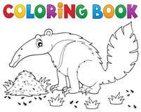 Θέμα 1 βιβλίων χρωματισμού anteater ελεύθερη απεικόνιση δικαιώματος