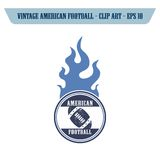 θέμα εικονιδίων αμερικανικού ποδοσφαίρου Στοκ φωτογραφίες με δικαίωμα ελεύθερης χρήσης