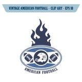 θέμα εικονιδίων αμερικανικού ποδοσφαίρου Στοκ φωτογραφία με δικαίωμα ελεύθερης χρήσης
